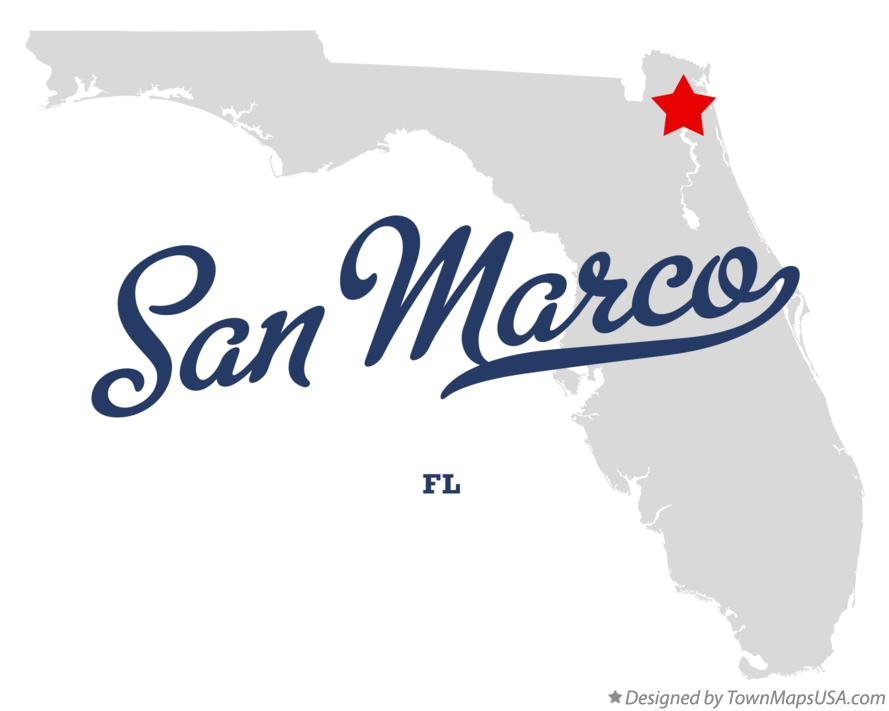 Map of San Marco Florida FL