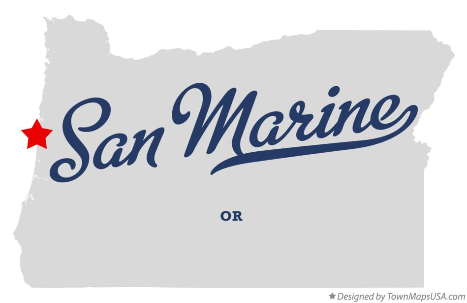 Map of San Marine Oregon OR