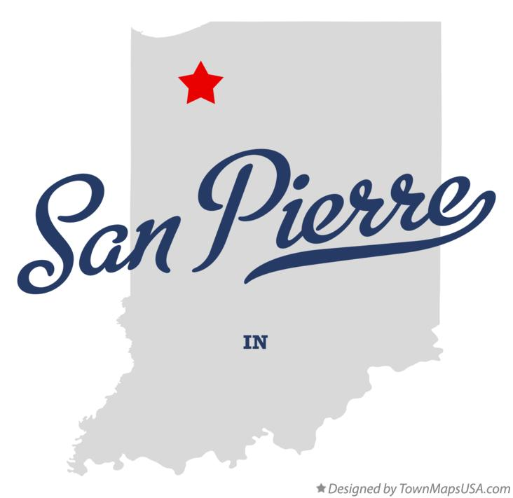 Map of San Pierre Indiana IN