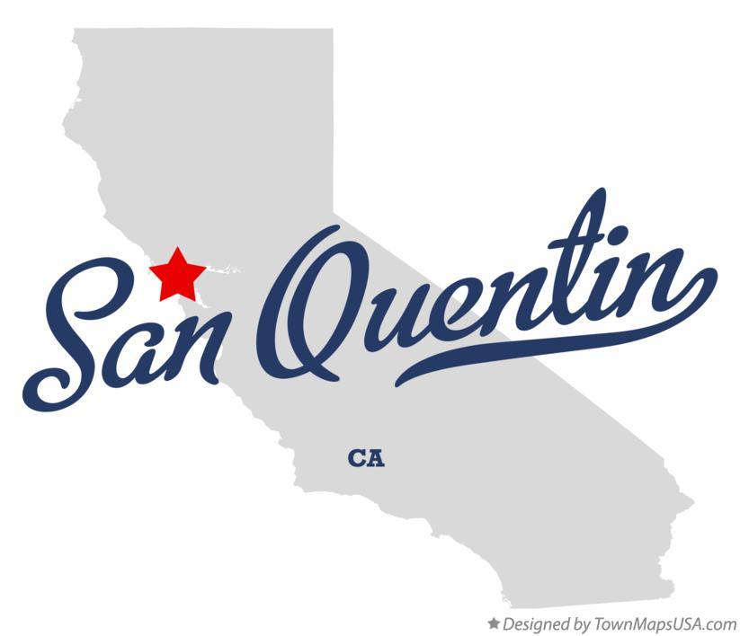Map of San Quentin California CA