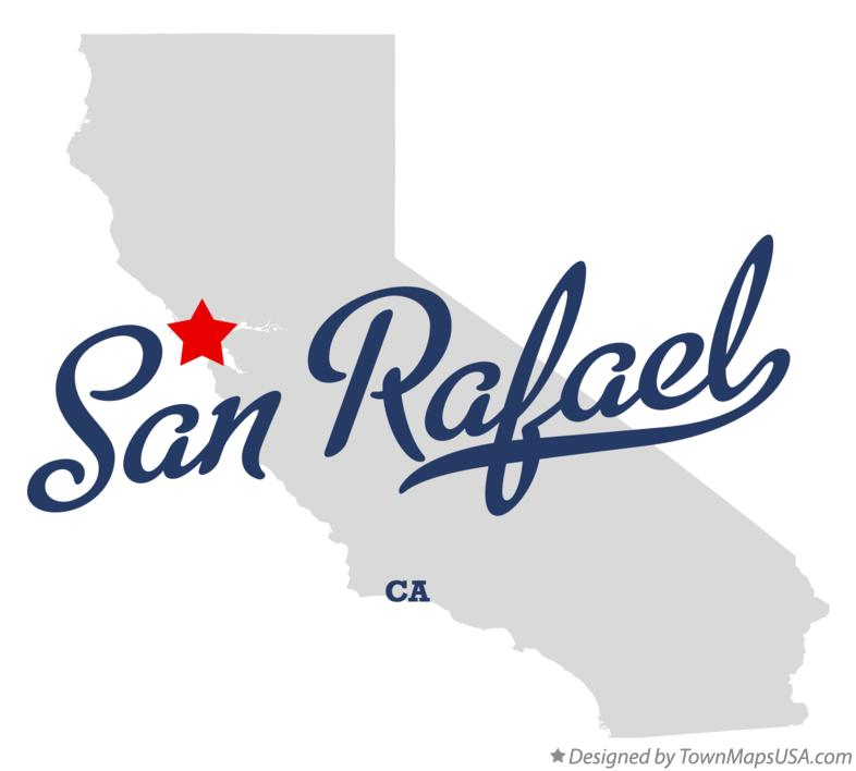Map of San Rafael California CA