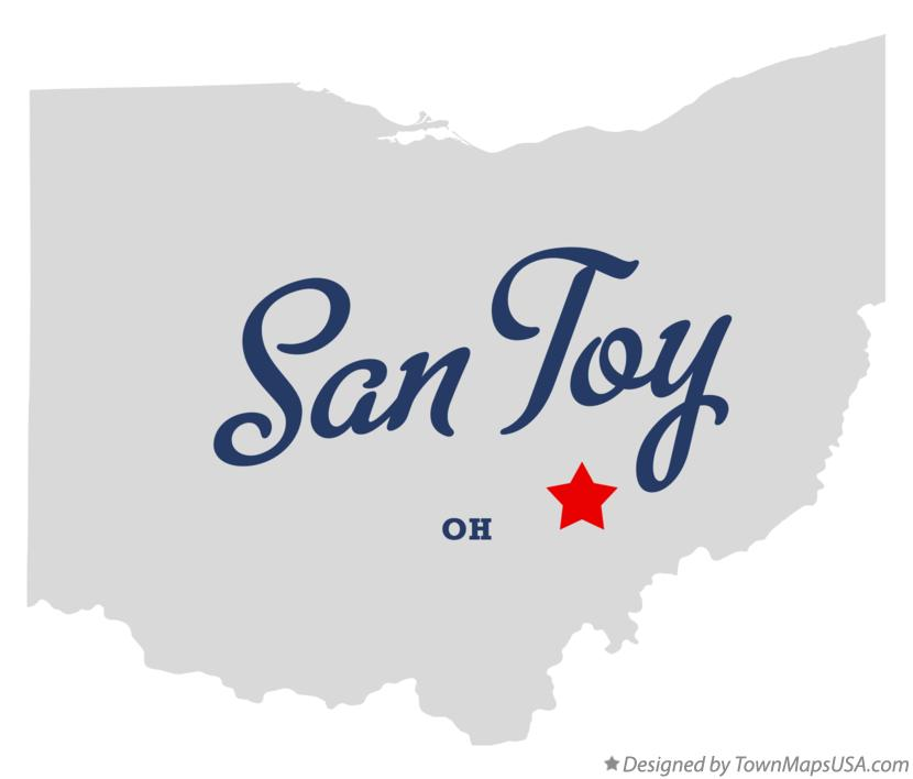Map of San Toy Ohio OH