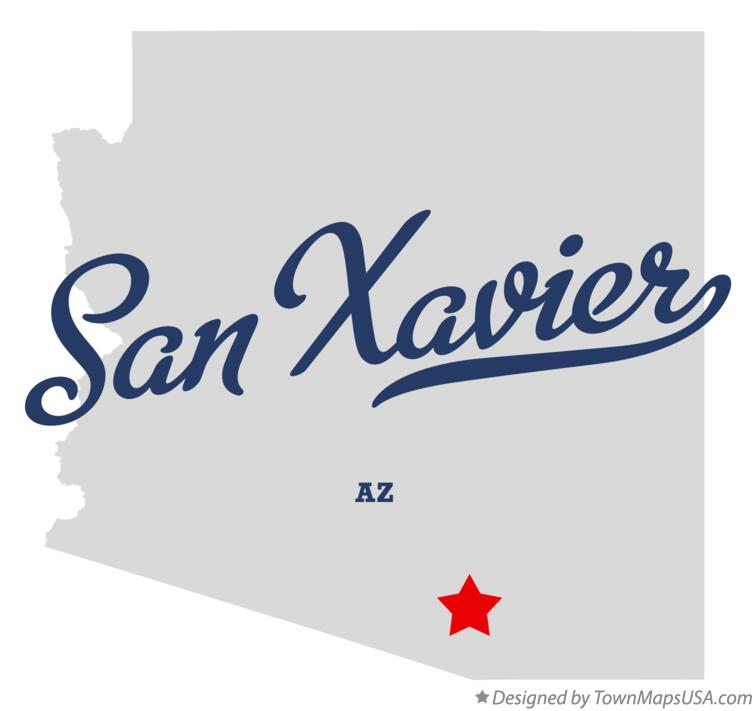 Map of San Xavier Arizona AZ
