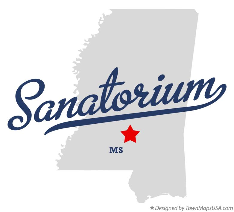 Map of Sanatorium Mississippi MS