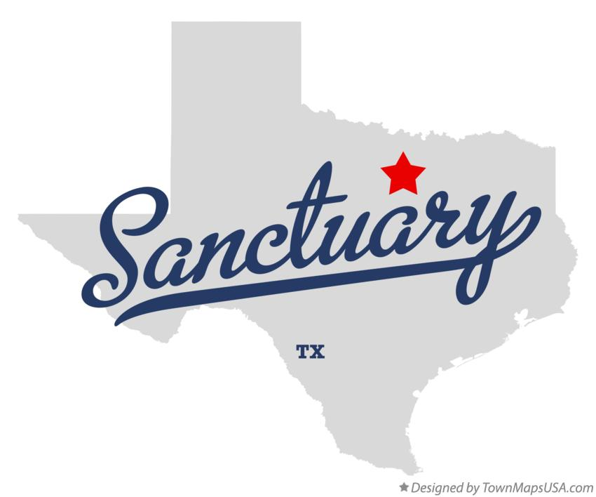 Map of Sanctuary Texas TX