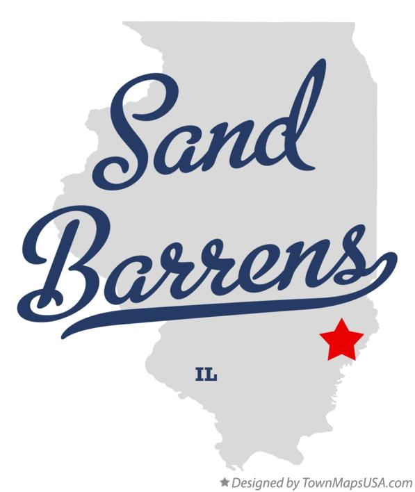 Map of Sand Barrens Illinois IL