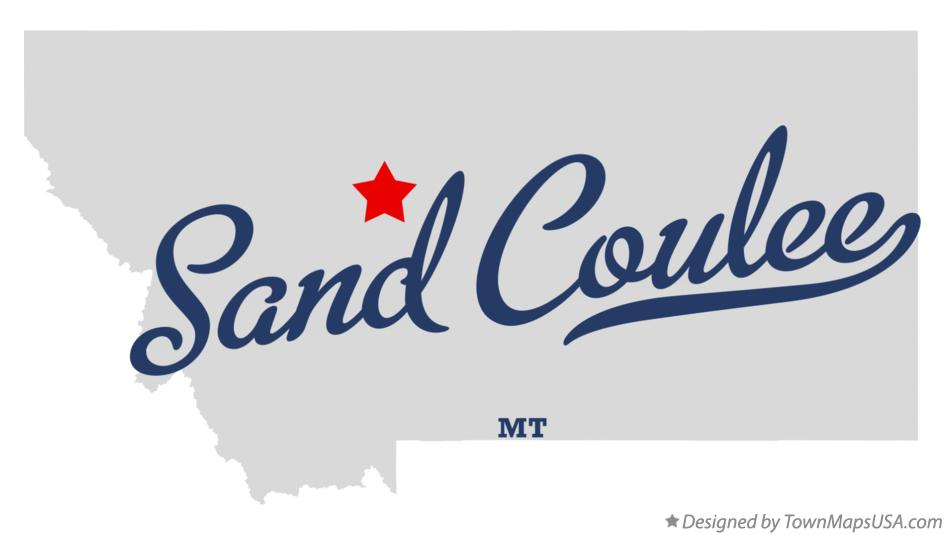 Map of Sand Coulee Montana MT
