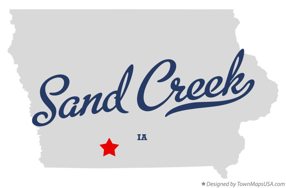 Map of Sand Creek Iowa IA