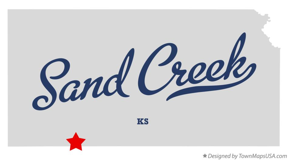 Map of Sand Creek Kansas KS