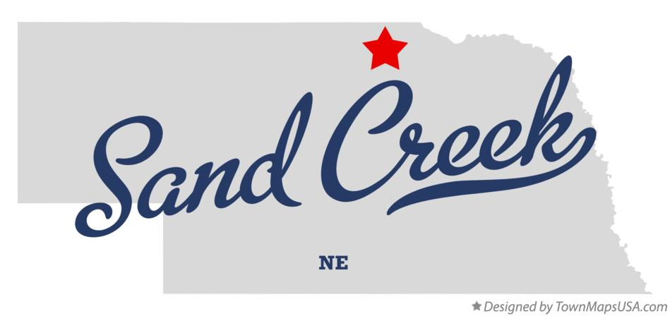 Map of Sand Creek Nebraska NE