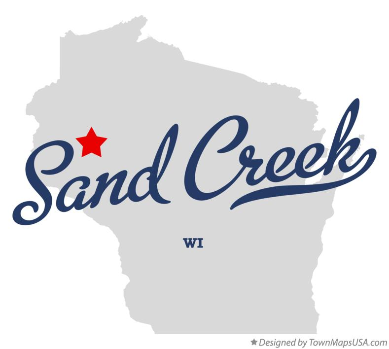 Map of Sand Creek Wisconsin WI