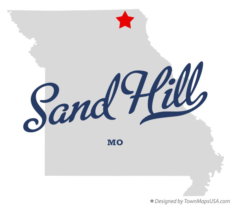 Map of Sand Hill Missouri MO