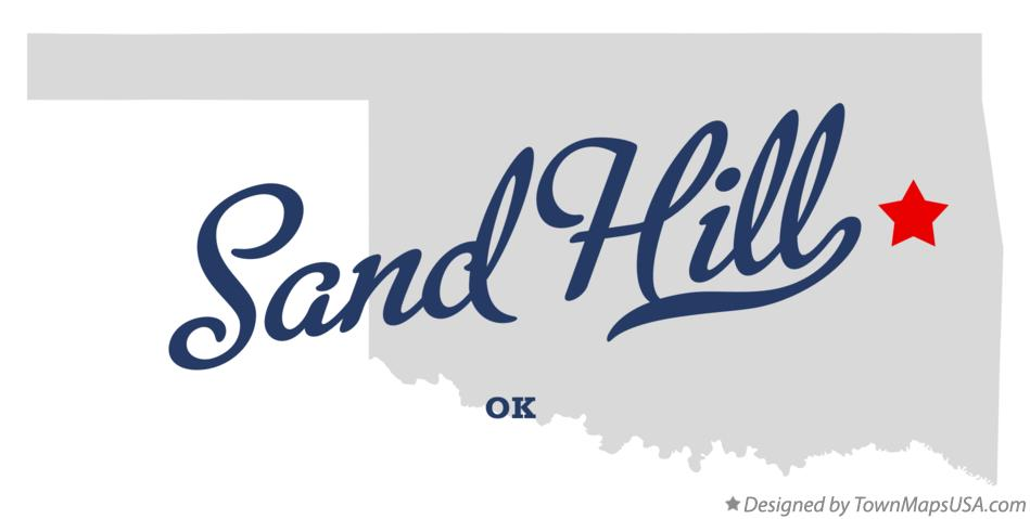 Map of Sand Hill Oklahoma OK