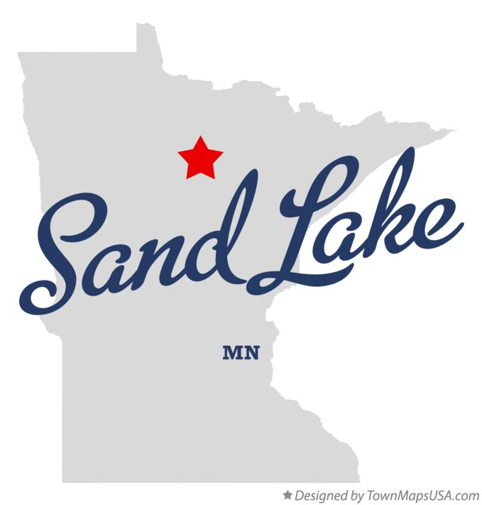 Map of Sand Lake Minnesota MN