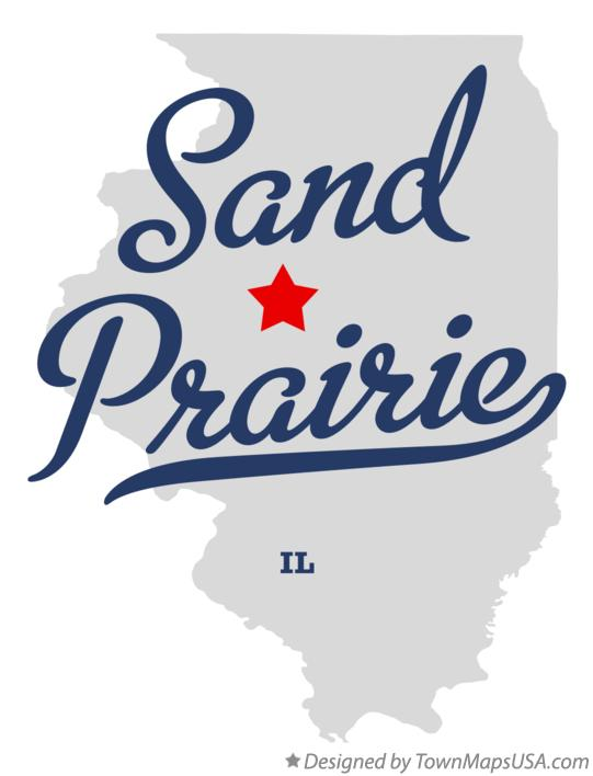 Map of Sand Prairie Illinois IL