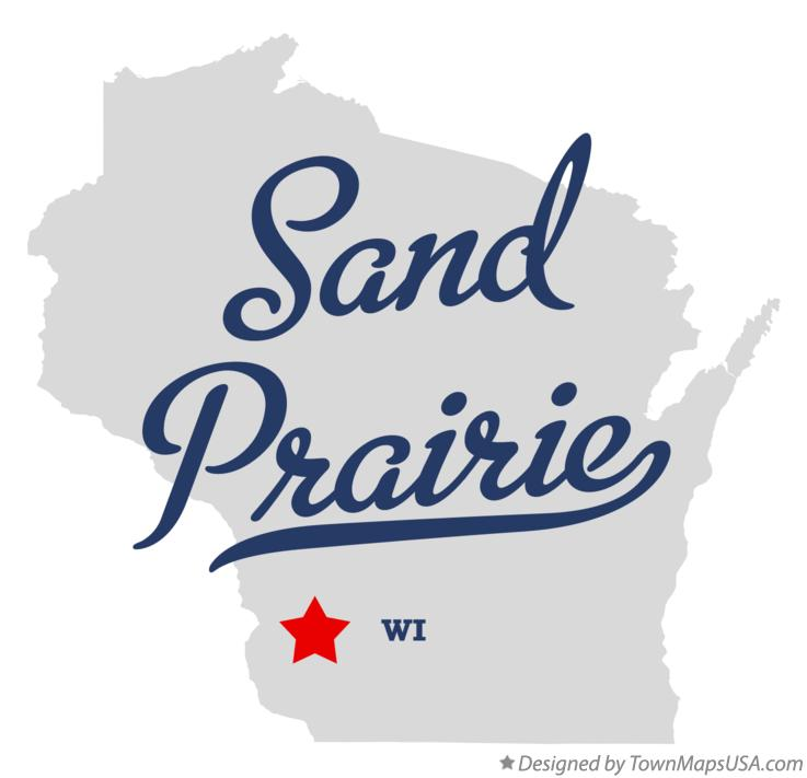 Map of Sand Prairie Wisconsin WI
