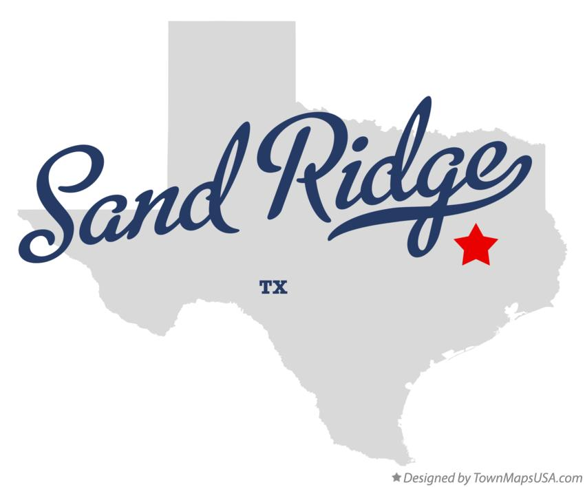 Map of Sand Ridge Texas TX
