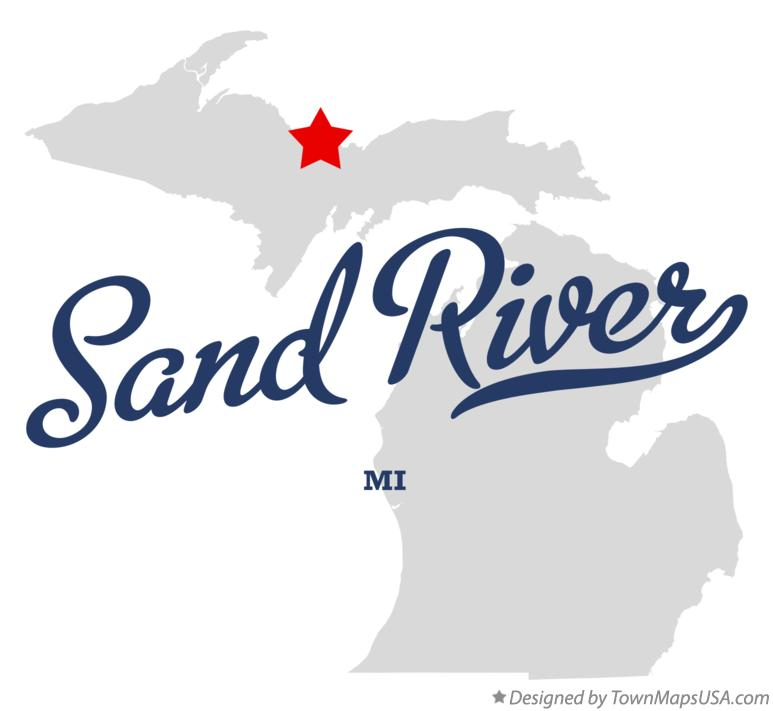 Map of Sand River Michigan MI
