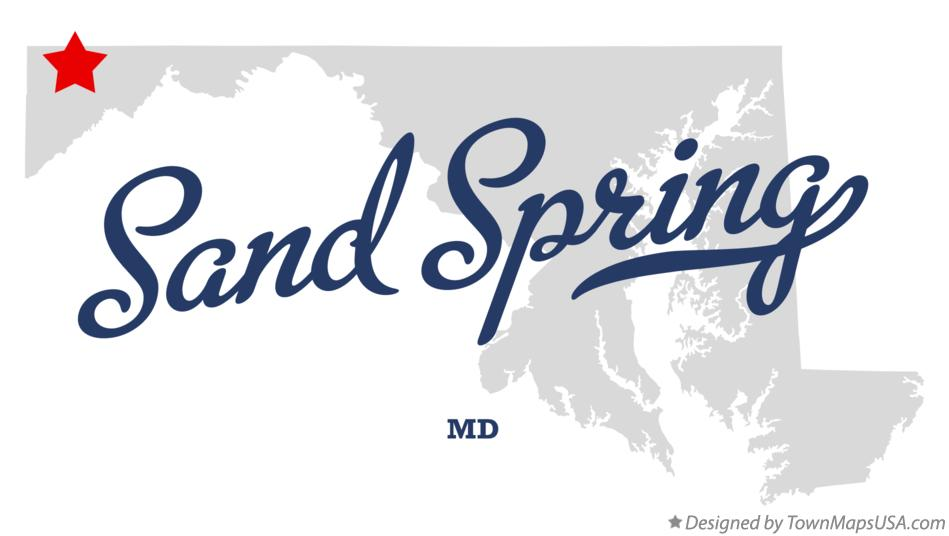 Map of Sand Spring Maryland MD