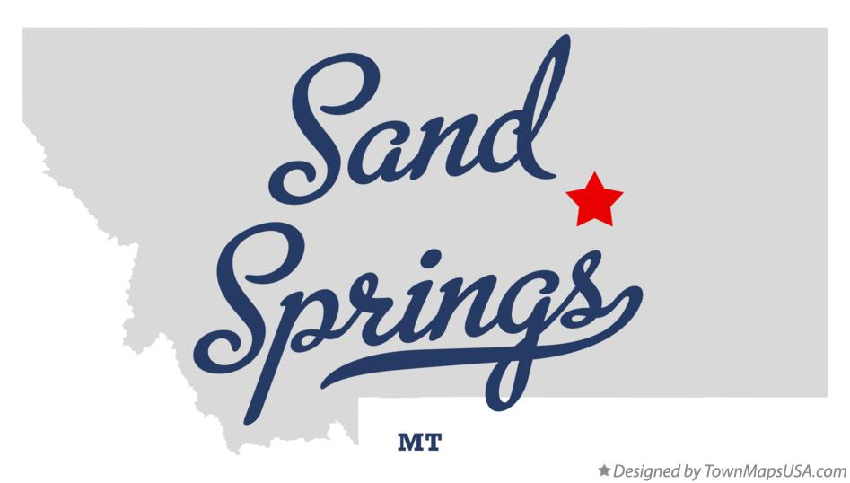 Map of Sand Springs Montana MT