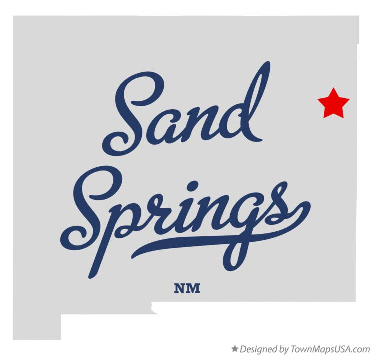 Map of Sand Springs New Mexico NM