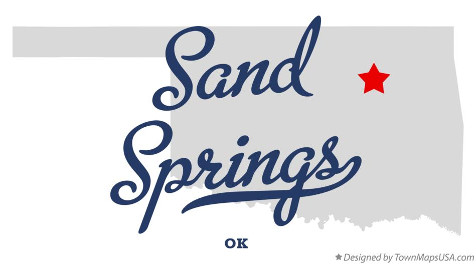 Map of Sand Springs Oklahoma OK