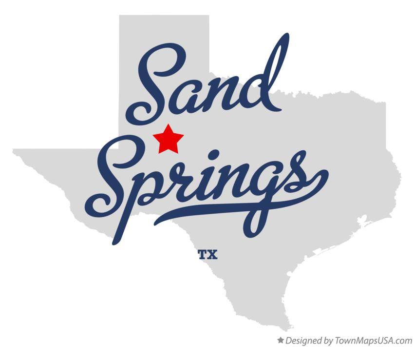 Map of Sand Springs Texas TX