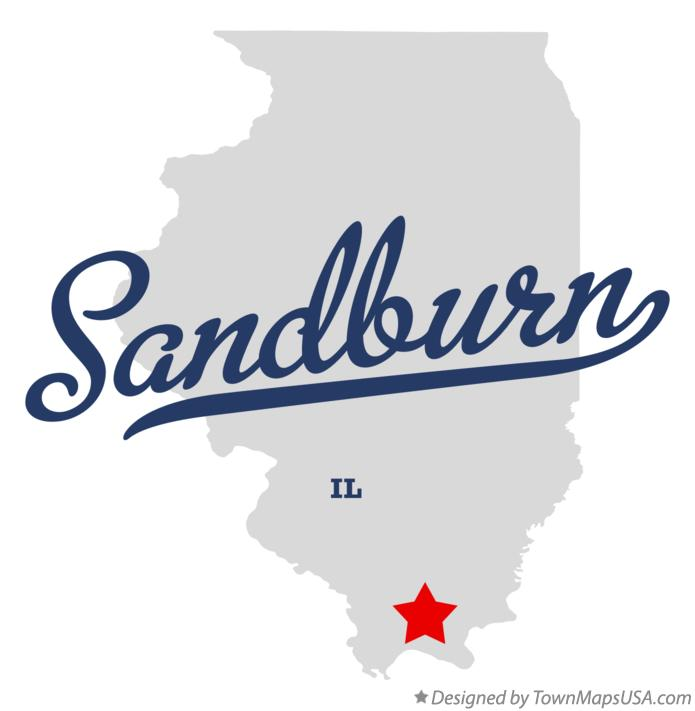 Map of Sandburn Illinois IL