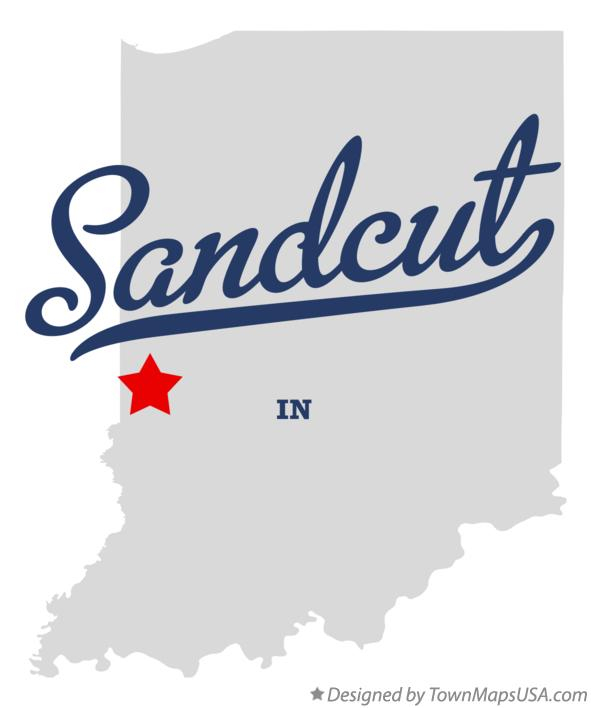Map of Sandcut Indiana IN