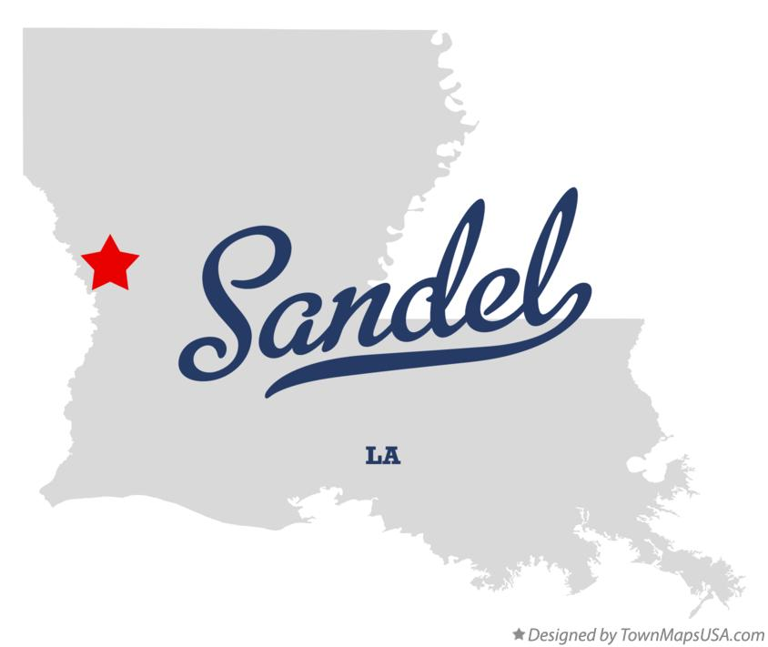 Map of Sandel Louisiana LA