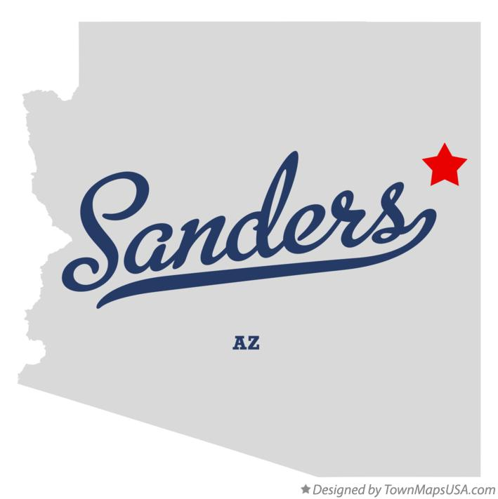 Map of Sanders Arizona AZ