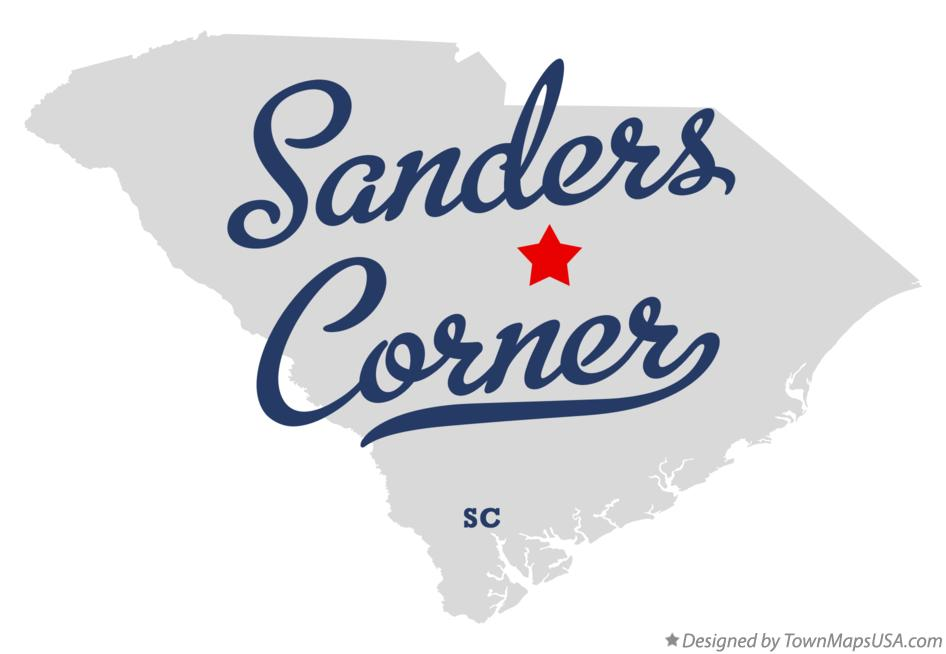 Map of Sanders Corner South Carolina SC