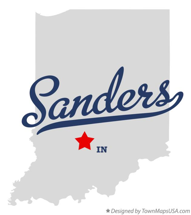 Map of Sanders Indiana IN