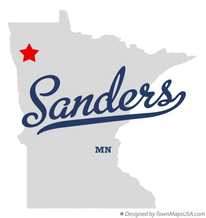 Map of Sanders Minnesota MN