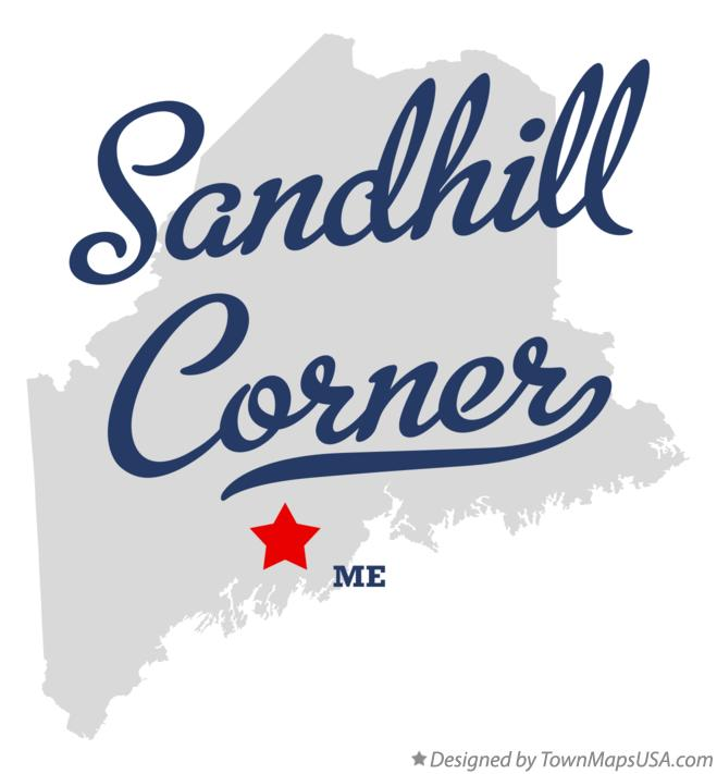 Map of Sandhill Corner Maine ME