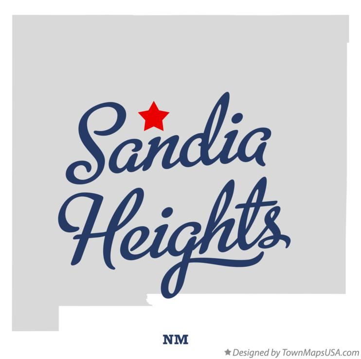 Map of Sandia Heights New Mexico NM