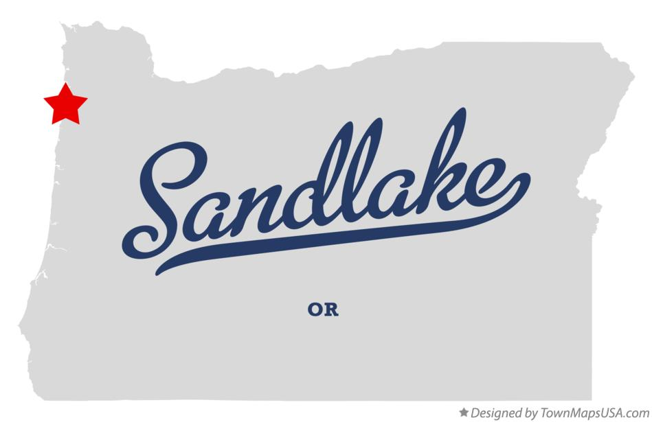 Map of Sandlake Oregon OR