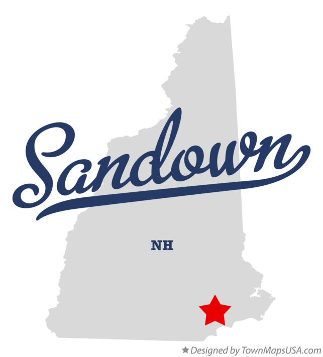Map of Sandown New Hampshire NH