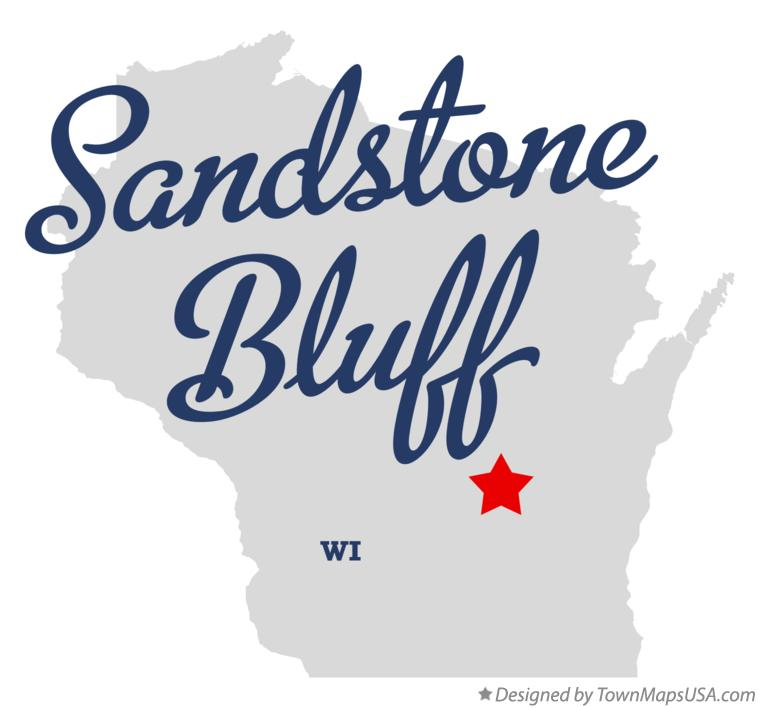 Map of Sandstone Bluff Wisconsin WI