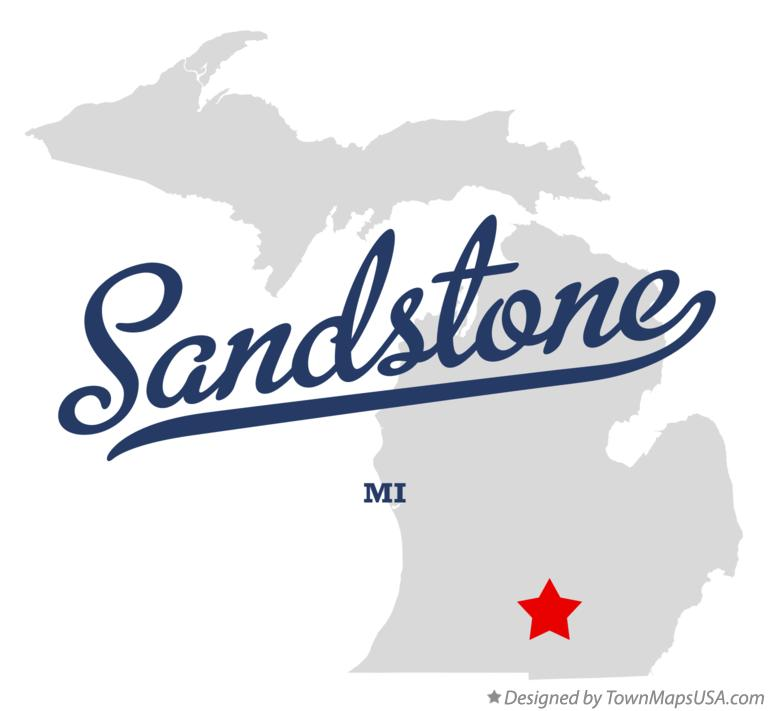 Map of Sandstone Michigan MI