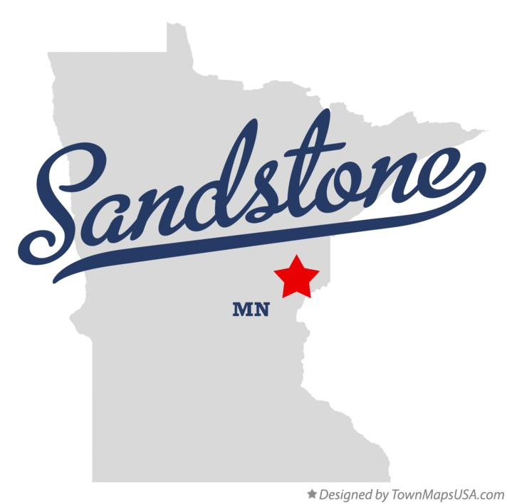 Map of Sandstone Minnesota MN