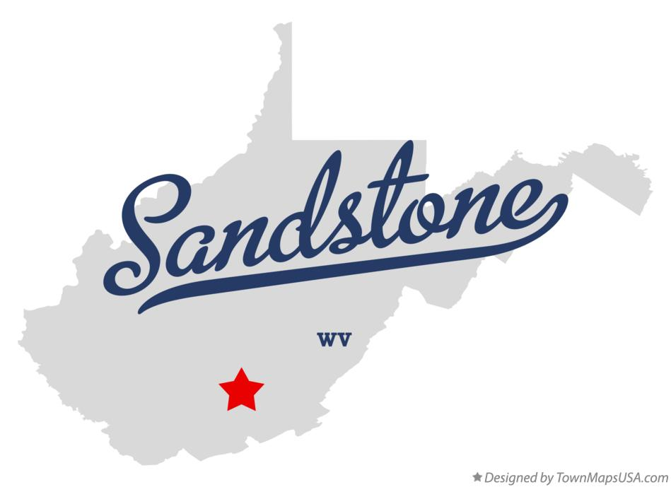 Map of Sandstone West Virginia WV