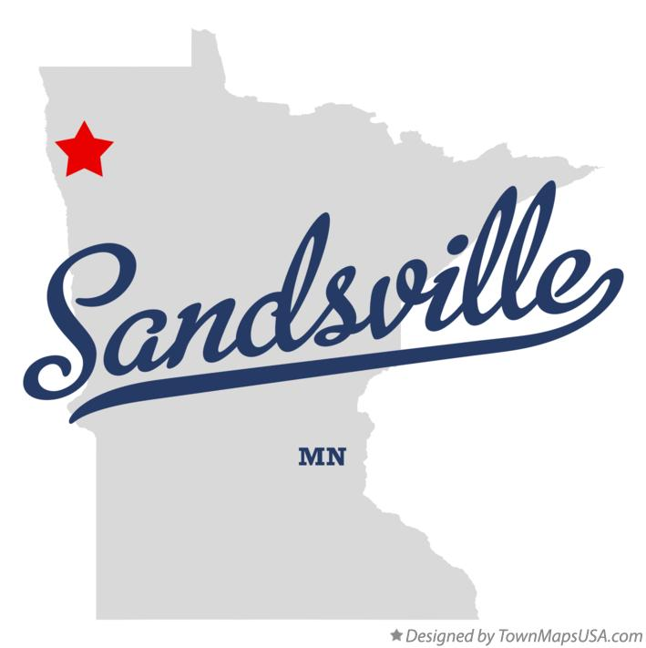 Map of Sandsville Minnesota MN