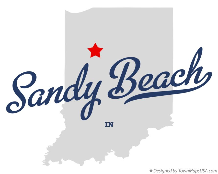 Map of Sandy Beach Indiana IN