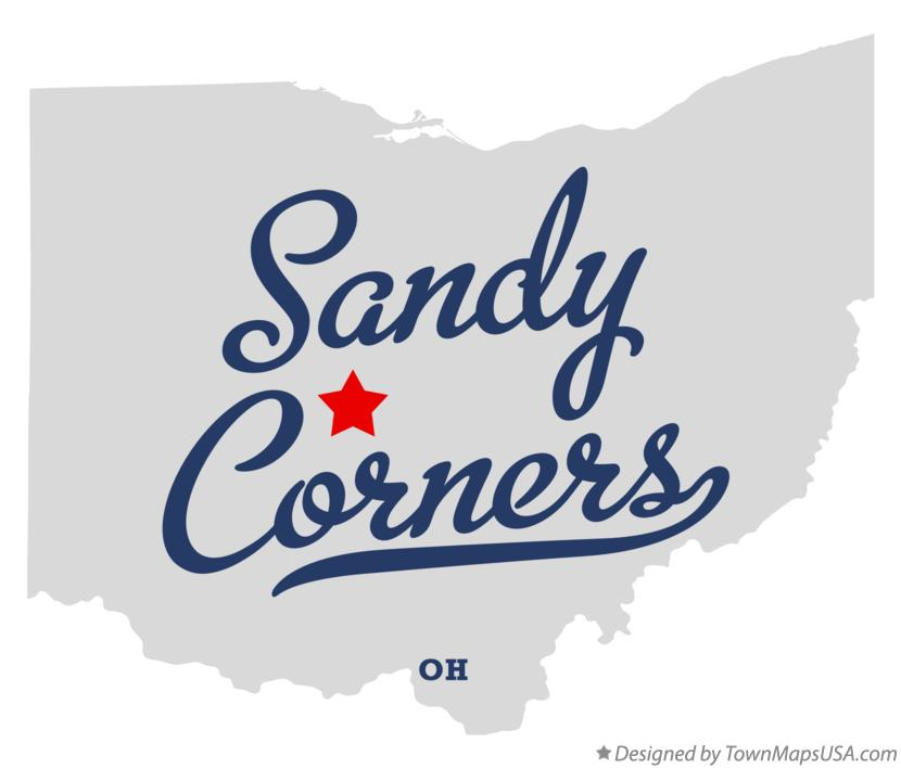 Map of Sandy Corners Ohio OH