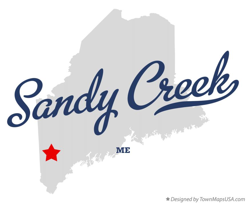 Map of Sandy Creek Maine ME