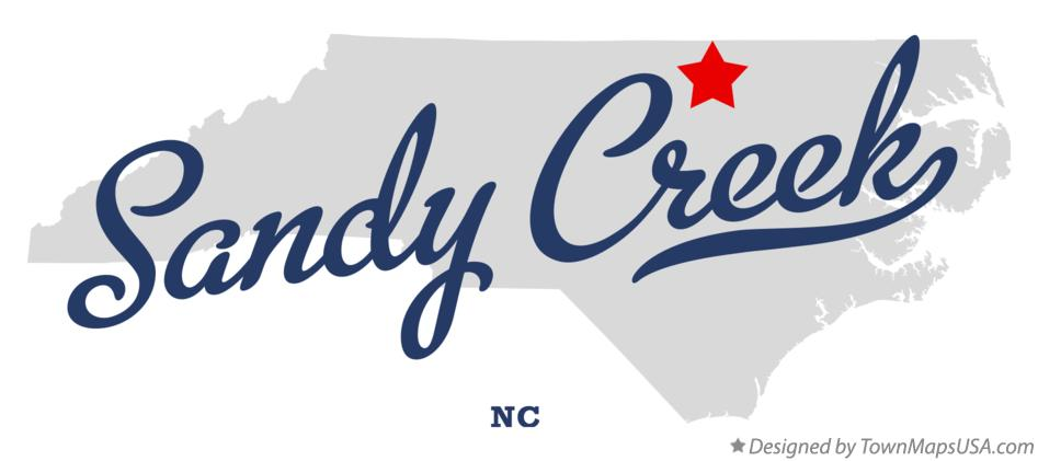 Map of Sandy Creek North Carolina NC