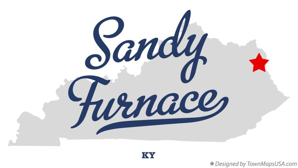Map of Sandy Furnace Kentucky KY