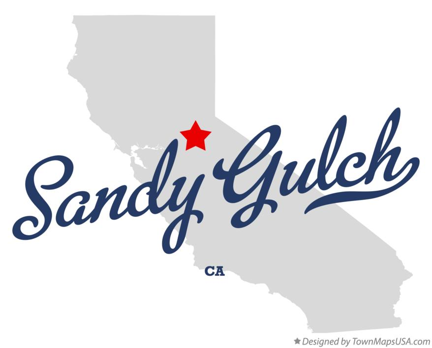 Map of Sandy Gulch California CA