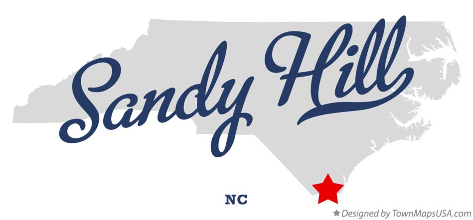 Map of Sandy Hill North Carolina NC